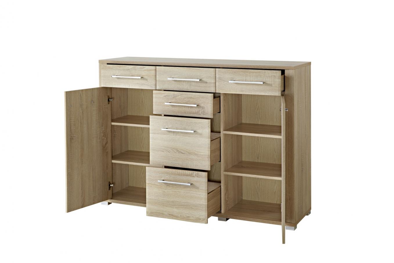 kommode eiche sgerau great kommode eiche sgerau hochglanz. Black Bedroom Furniture Sets. Home Design Ideas